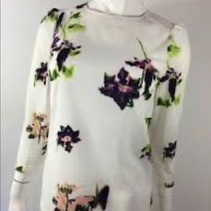 French Connection Floral 3/4 Sleeve Blouse